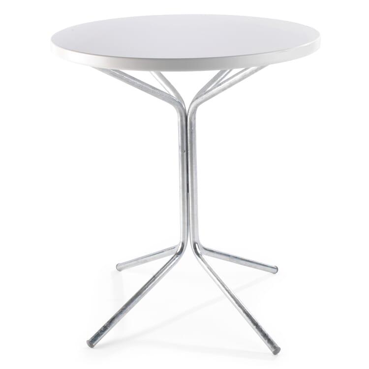 Tisch Pix, Feuerverzinkt, Verkehrsweiß RAL 9016