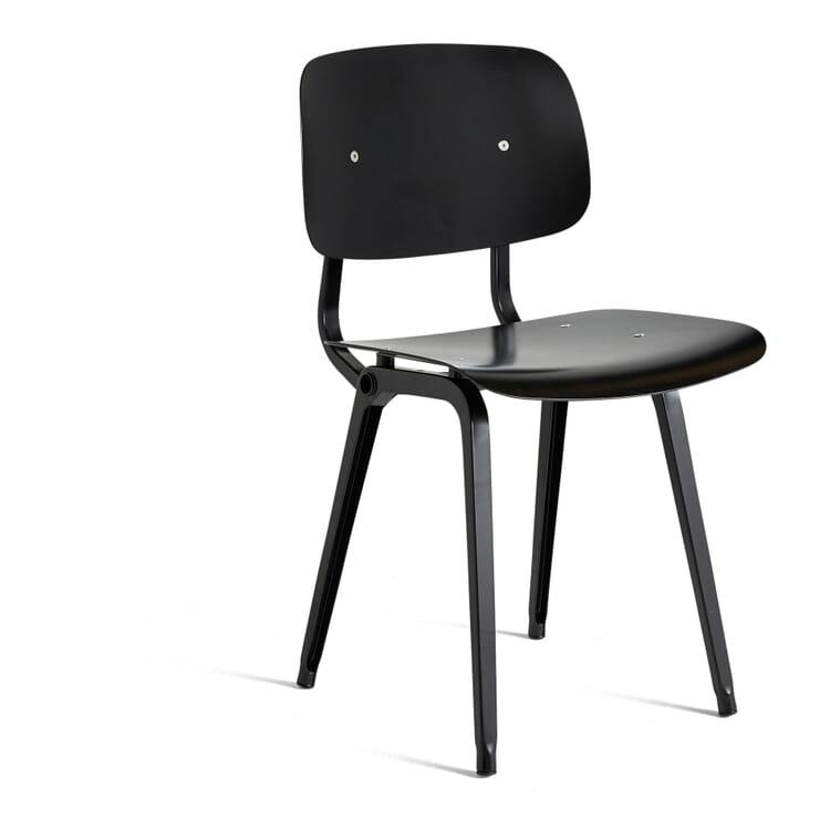 Stuhl Revolt, Schwarz / Tiefschwarz RAL 9005