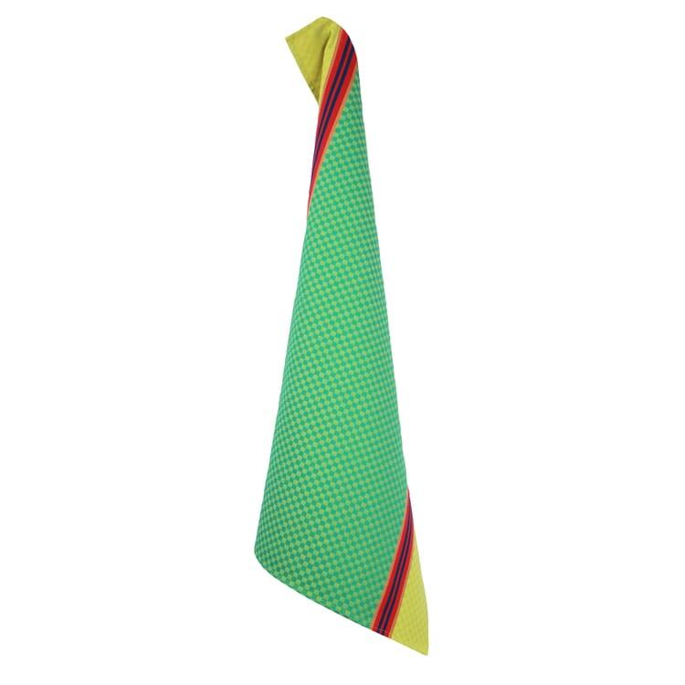 Geschirrtuch Karo, Gelb / Grün