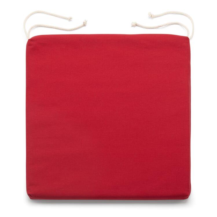 Sitzkissen Schurwollfüllung, Rot