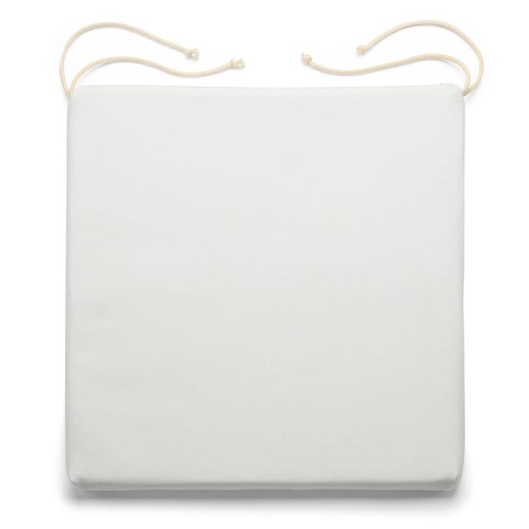Sitzkissen Schurwollfüllung, Weiß