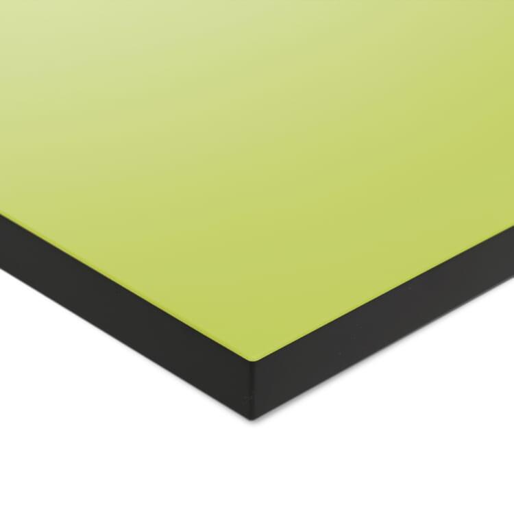Tischplatte zu Tischgestell ERIK, quadratisch, Grüngelb