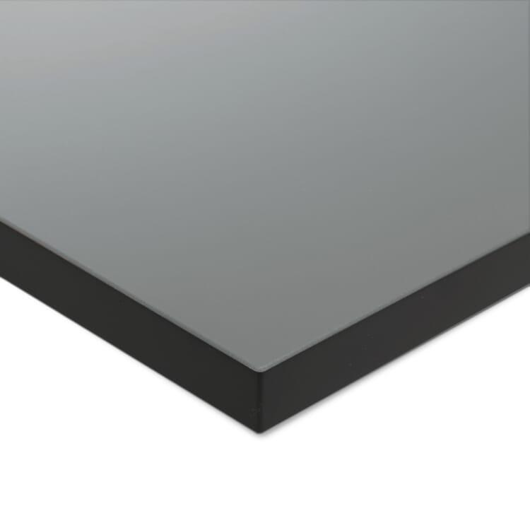 Tischplatte zu Tischgestell ERIK, quadratisch, Mittelgrau