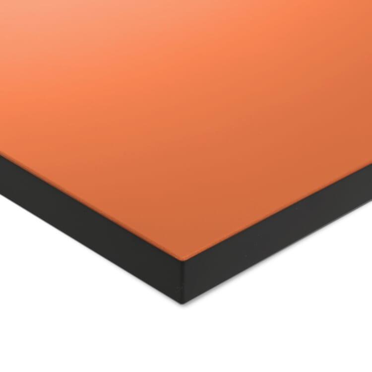 Tischplatte zu Tischgestell ERIK, quadratisch, Orange