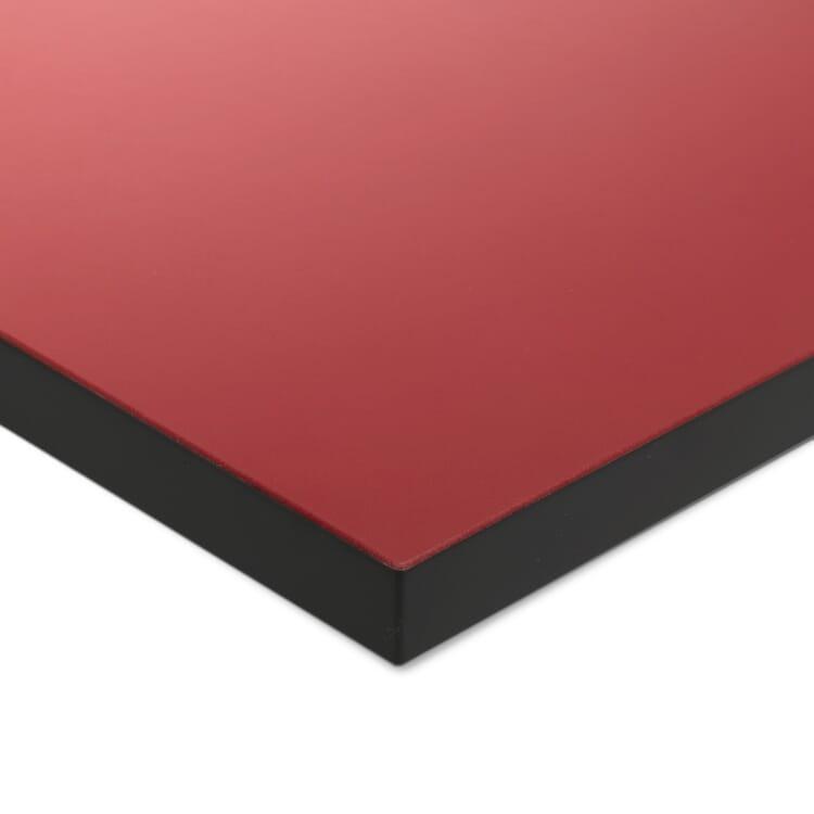 Tischplatte zu Tischgestell ERIK, quadratisch, Rot