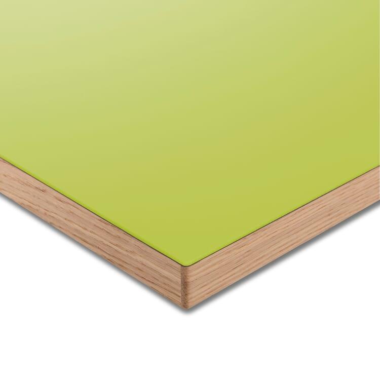Tischplatte LTL Linoleum, Grüngelb