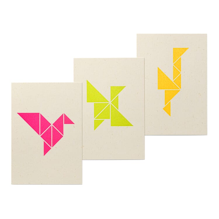 Postkarten-Set Tangram