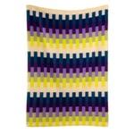 Decke Åsmund Bold Violett-Gelb